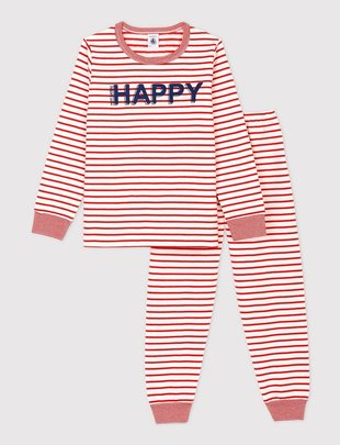 Petit Bateau Petit Bateau Unisex Pyjama 2-delig 'Happy'
