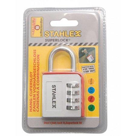 Stahlex 7 stuks Cijferhangsloten Grijs/Rood