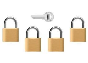 Hangsloten met dezelfde sleutel