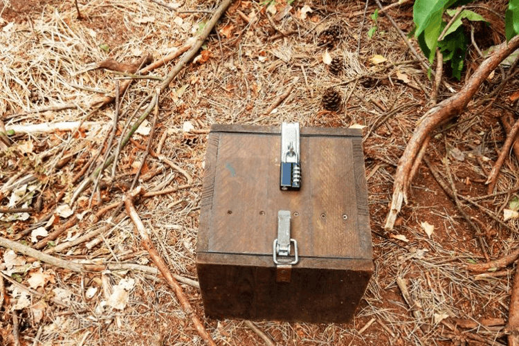 Geocaching Box - met hangslot