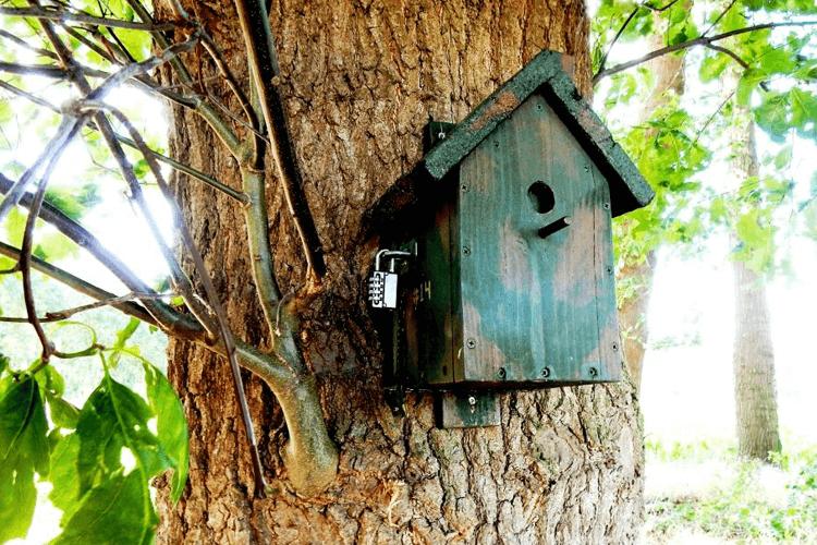 Geocaching - Hangslot Vogelhuisje