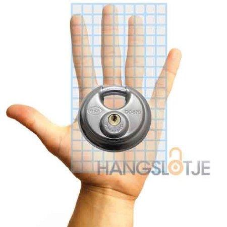 M-loy Discus Hangslot Roestvaststaal 5 pins 70mm