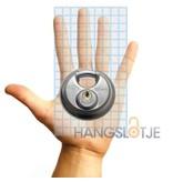 M-loy Discus Hangslot Gelijksluitend Roestvaststaal 5 pins 70mm