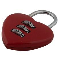 Cijferslot hart - Rood