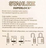 Stahlex Cijferhangslot Grijs/Rood