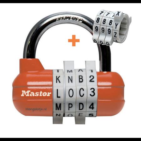Masterlock Lettersloten   Woordslot en Cijferslot