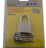 Stahlex Hangsloten 40mm Satijn afwerking