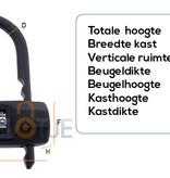 Stahlex Beugel Cijferslot 75x100mm