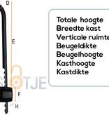 Stahlex Beugel Cijferslot 75x200mm