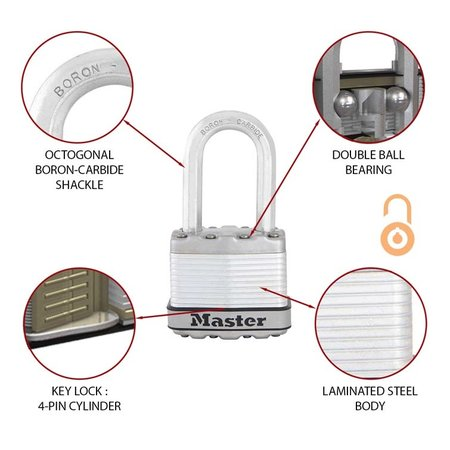 Masterlock Excell Hangslot 4 sleutel