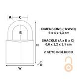 Masterlock Hardstalen beugel 22mm - diameter 6mm