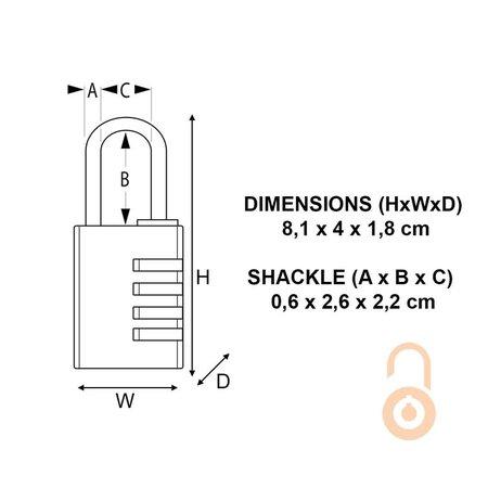 Masterlock Aluminium Hangslot 40mm met messing afwerking