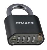 Stahlex Cijferhangslot - 50mm - Zwart