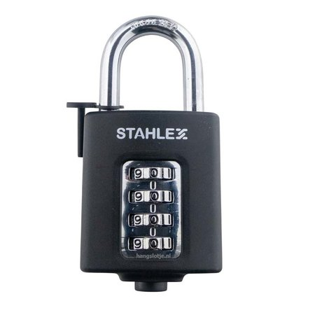 Stahlex Cijferhangslot - 50mm - Zwart - Easy Release
