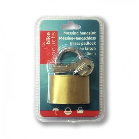 Lock-it Hangslot blanco 40mm om te graveren
