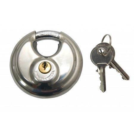 Lock-it Discus 70mm RVS Extra voordelig Gelijksluitend