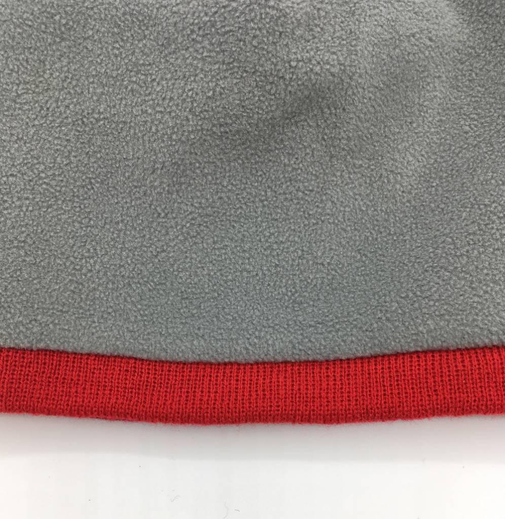 Willem II Gestreepte muts met verschillende grijstinten en een rode rand