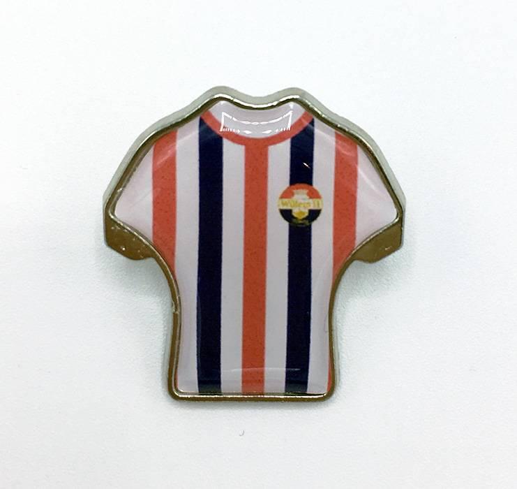 Willem II Pin in de vorm van een thuisshirt