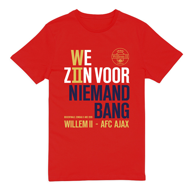 Willem II Rood casual shirt bekerfinale