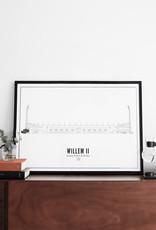 WIJCK Willem II WIJCK Print Koning Willem  II Stadion