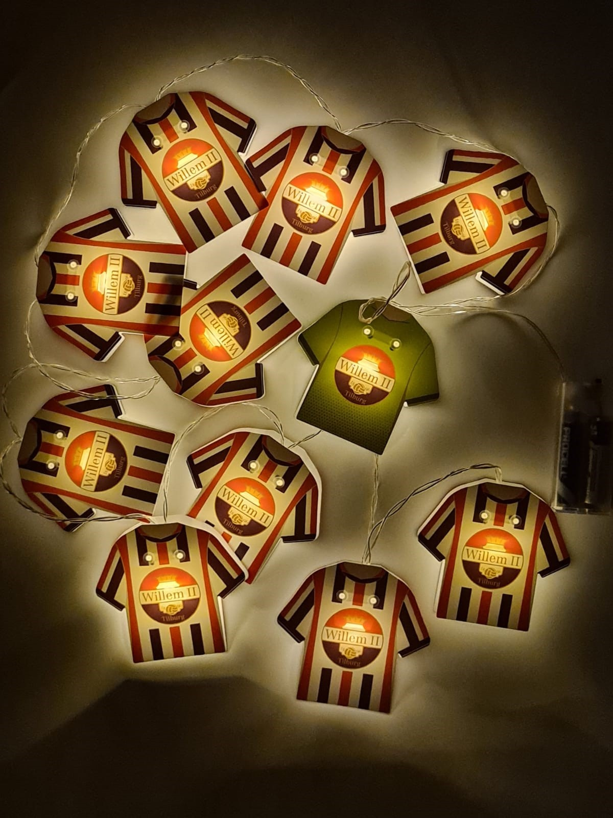 Willem II elftal lichtsnoer