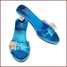 Schoentjes met hakjes Maerle blauw metallic