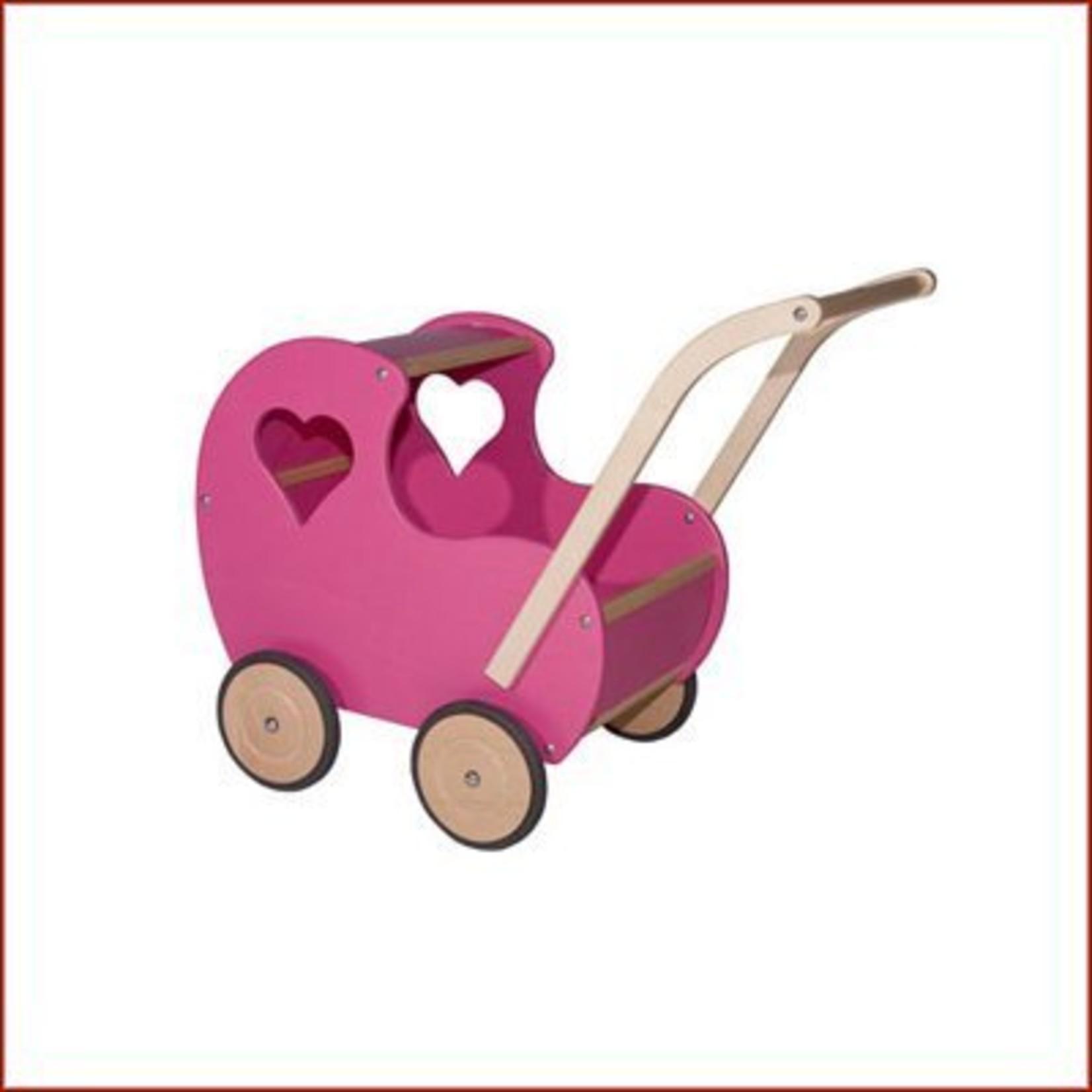 Van Dijk Toys Poppenwagen Retro Rosé