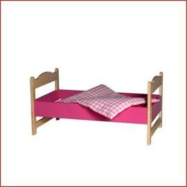Van Dijk Toys Poppenledikant/bed roze