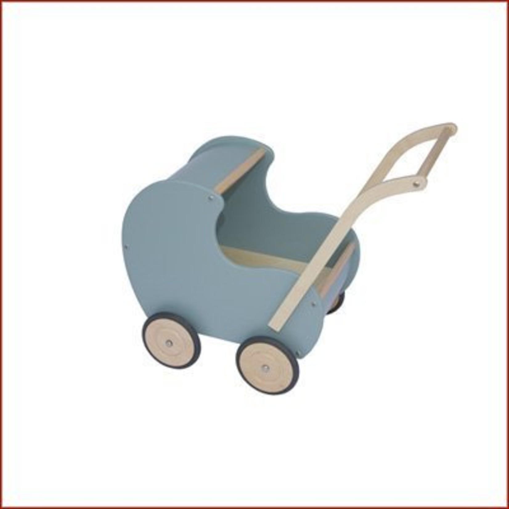 Van Dijk Toys Poppenwagen Vintage blauw