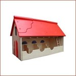 Van Dijk Toys Houten Boerderij Rood dak - stal groot