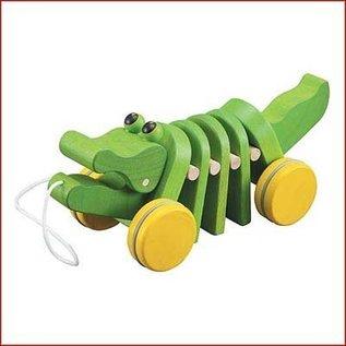 Plantoys Houten trekdier Krokodil
