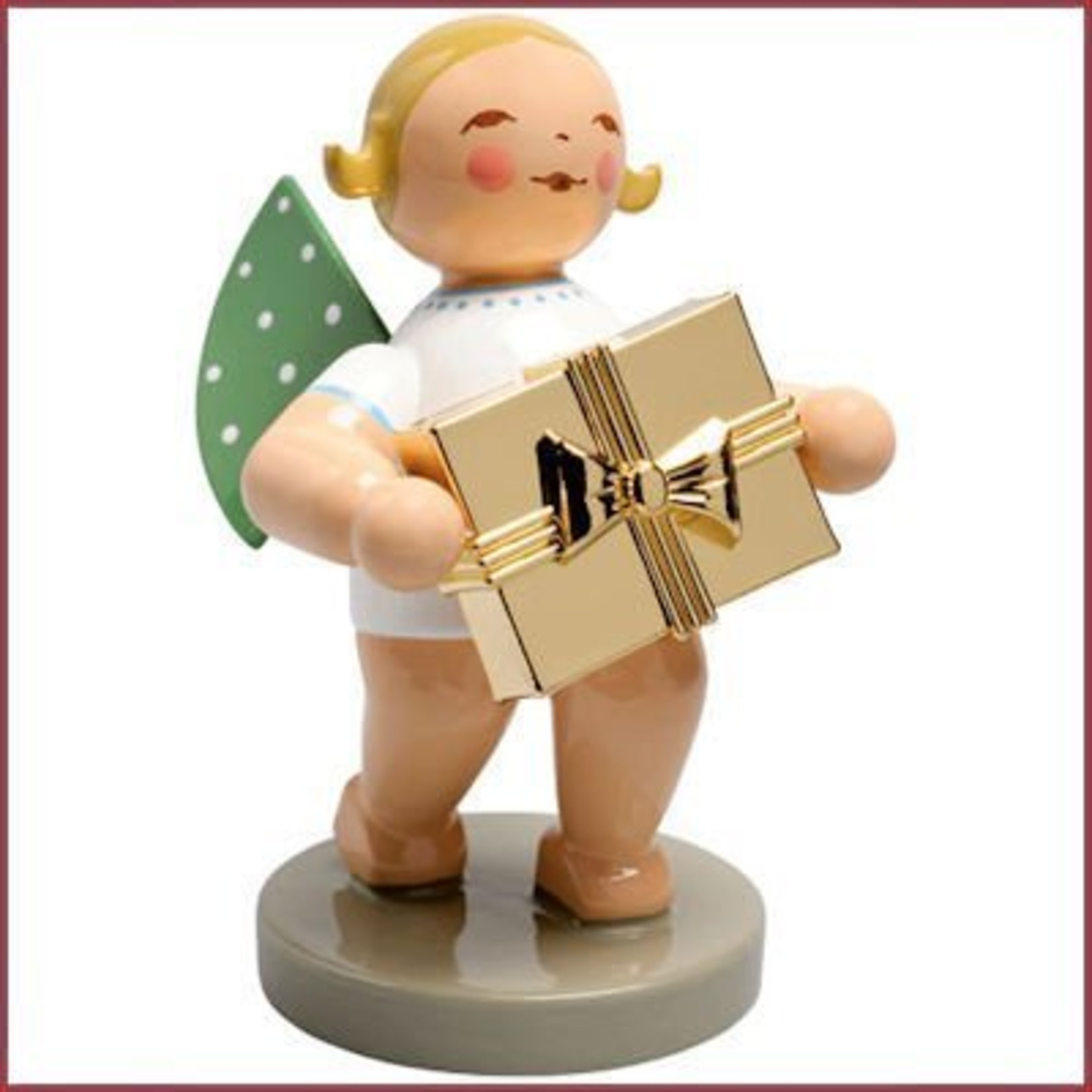 Wendt & Kühn Gold Edition - Grunhainichense Engel met cadeau
