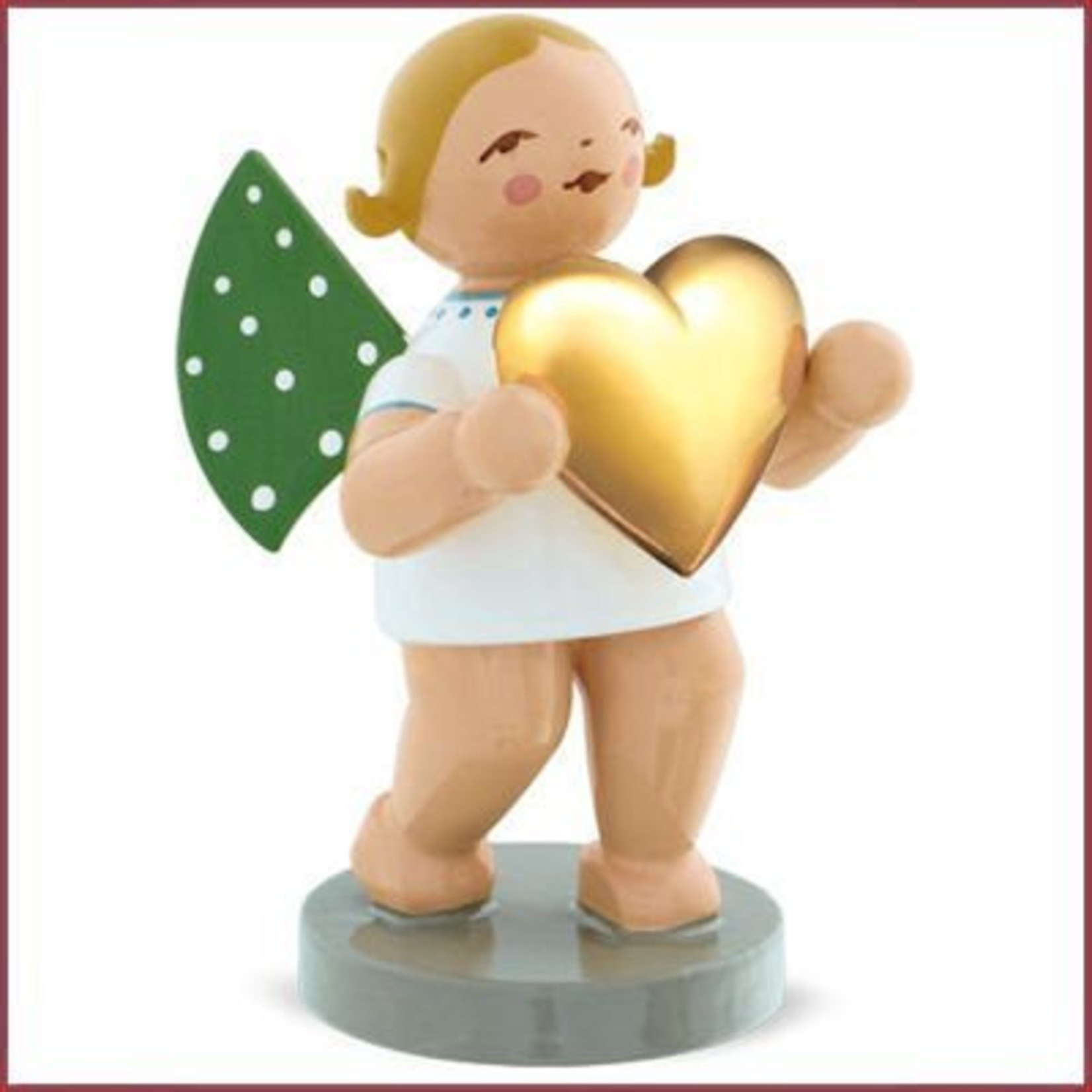 Wendt & Kühn Gold Edition - Grunhainichense Liefdesengel met verguld hart