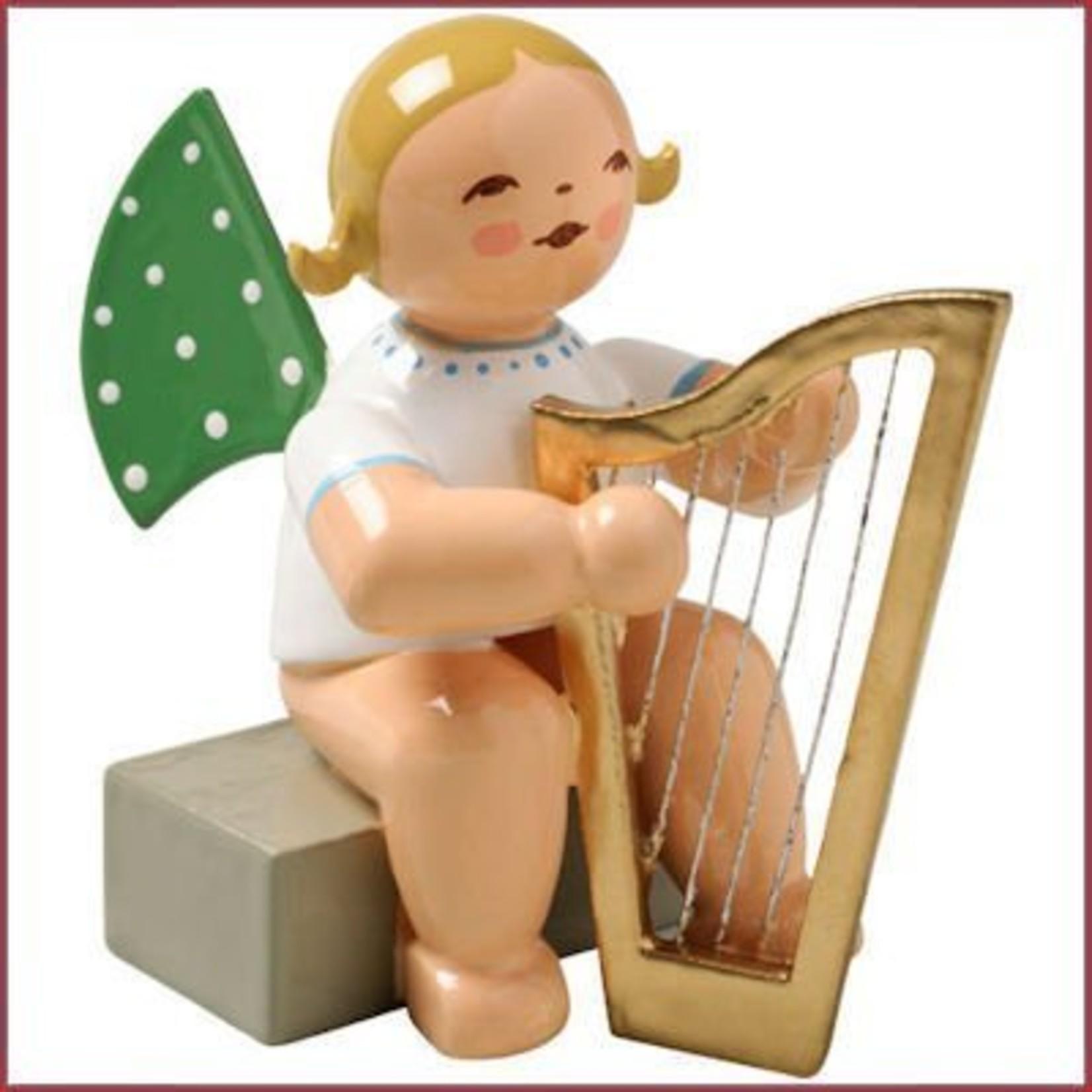 Wendt & Kühn Grunhainichense zittende Engel met harp