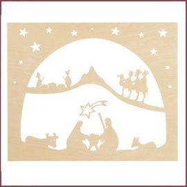 De Noest Staande/raam-decoratie Kerst