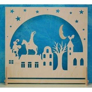 De Noest Staande/raam-decoratie Sinterklaas