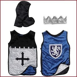 Trullala Omkeerbare set Ridder-Koning blauw/zilver 4-7