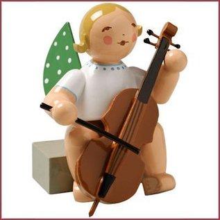 Wendt & Kühn Grunhainichense zittende Engel met cello