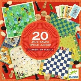 Djeco Speldoos Classic Box, 20 klassieke spellen