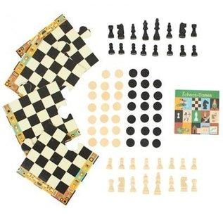 Djeco Nomand Game - Schaken en Dammen