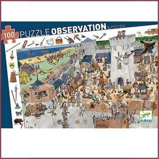Djeco Observatiepuzzel Kasteel 100 stukjes