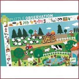 Djeco Observatiepuzzel Boerderij 35 stukjes