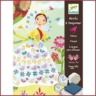 Djeco Stempelset Meisje met de Bloemen