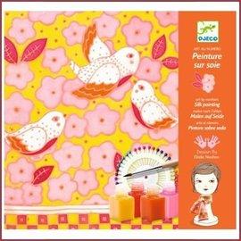 Djeco Knutselset Zijden sjaal schilderen - Zwaluwen