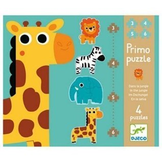 Djeco 4-puzzels In de Jungle