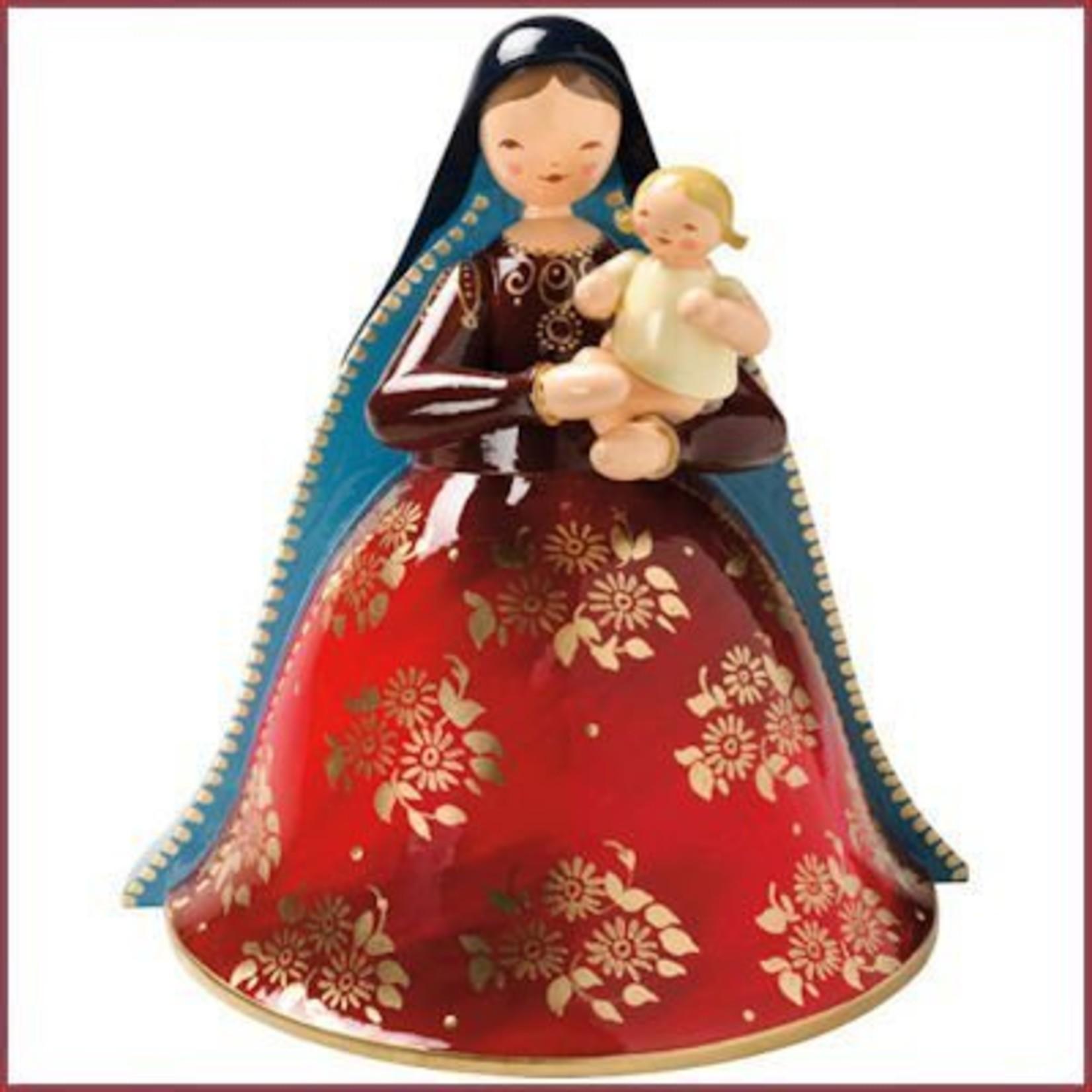 Wendt & Kühn Maria met Kerstkind, rijk beschilderd