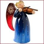 Wendt & Kühn Rijk beschilderde Engel blauw met viool