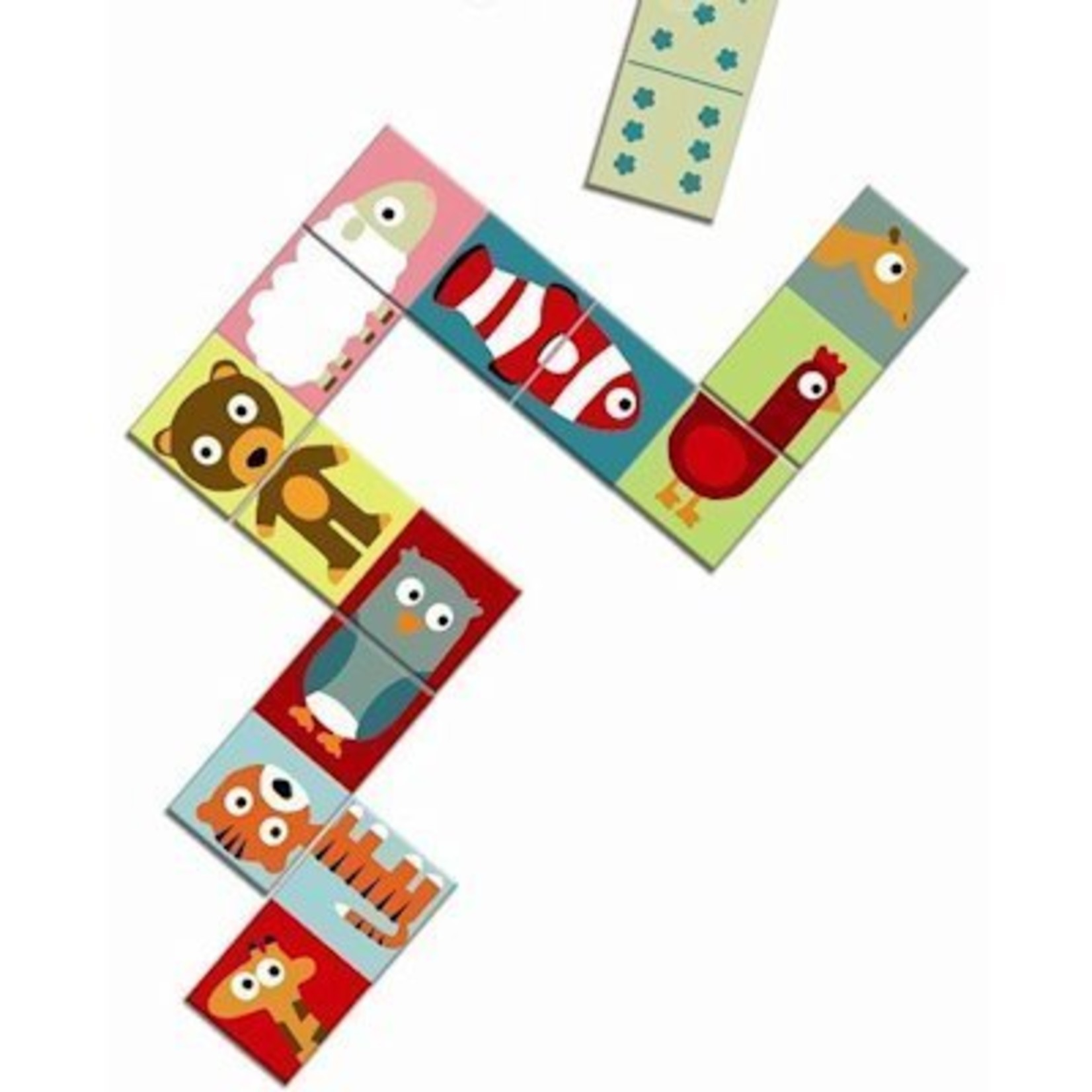 Djeco Dieren-puzzel domino