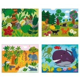 Djeco Knutselset Bewegende schilderijen: Hallo dieren