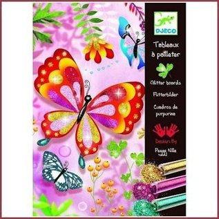 Djeco Knutselset Glitterzand Vlinders